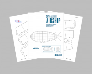 papercraft airship PDF template and assembly guide image
