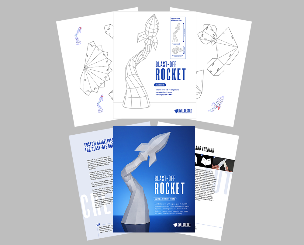 Rocket template and guide image