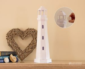 Low Poly Papercraft Lighthouse