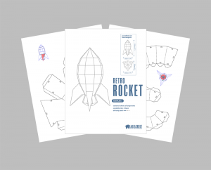Retro Rocket PDF Template image