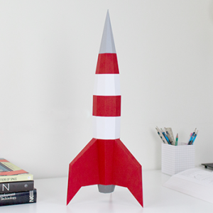 Moon Rocket Papercraft
