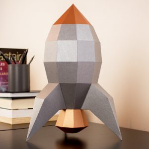 retro rocket papercraft