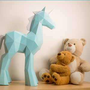 Papercraft Unicorn Template Image