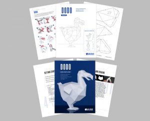 Dodo Papercraft Template Sample Page
