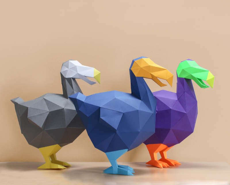 Papercraft Dodo templates