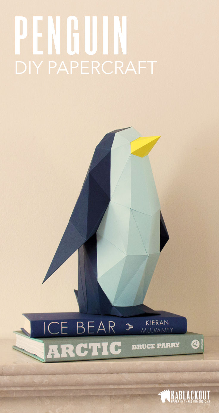 penguin papercraft template image