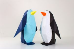 Low Poly Penguin Papercraft Template