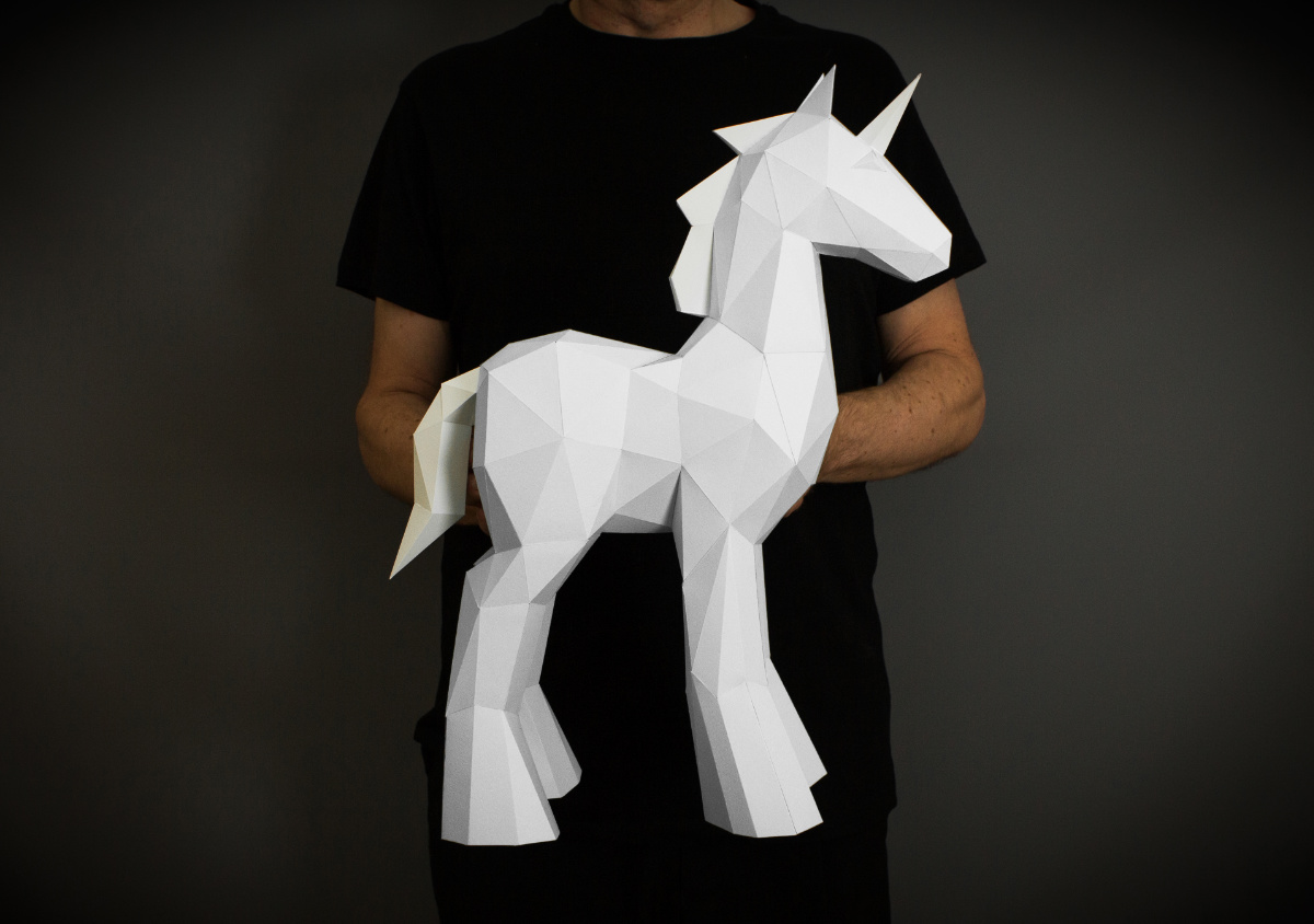 Unicorn Papercraft image