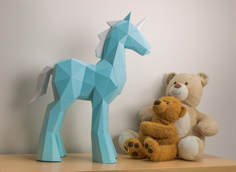 Unicorn Papercraft Sculpture image