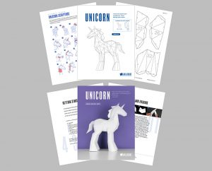 Unicorn template and assembly guide image