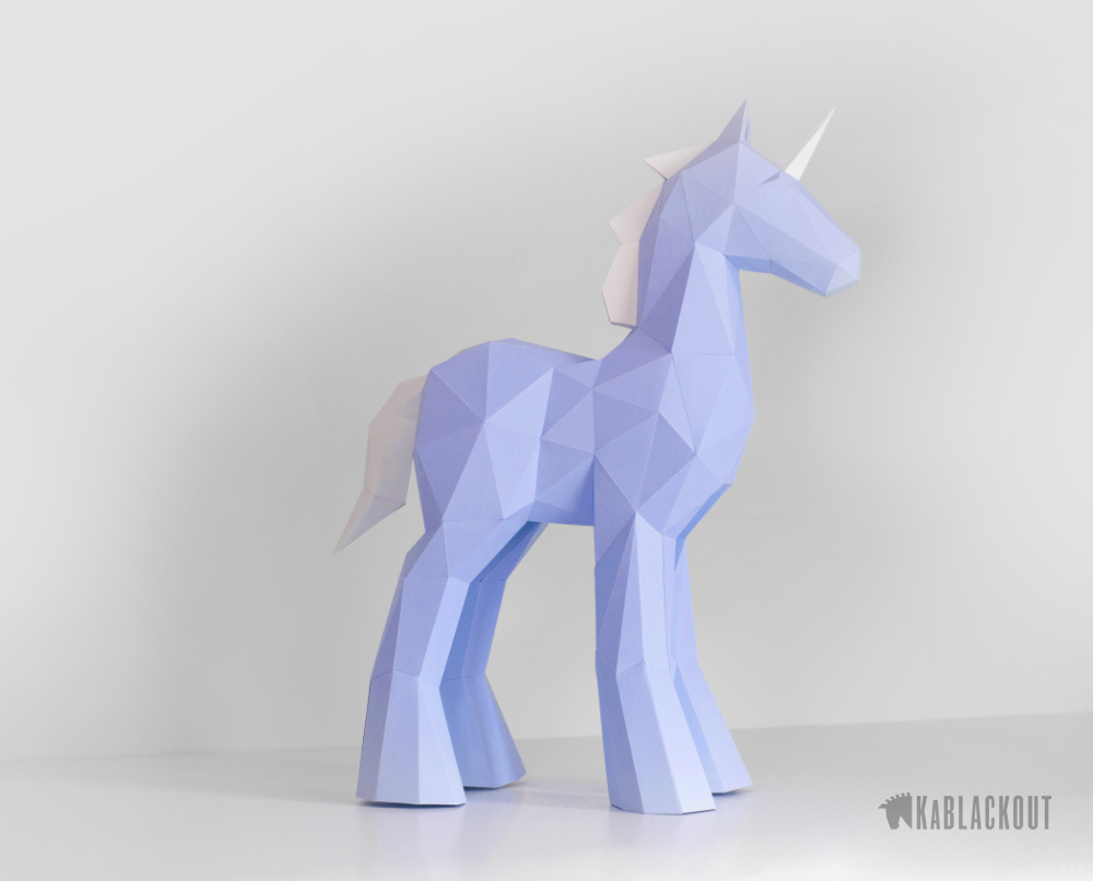 unicorn_papercraft_template
