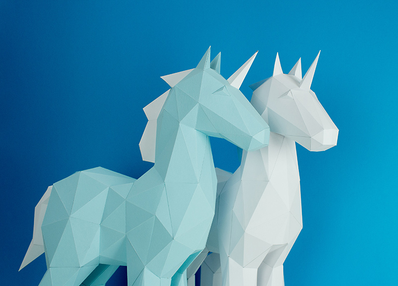 Papercraft Unicorn Image