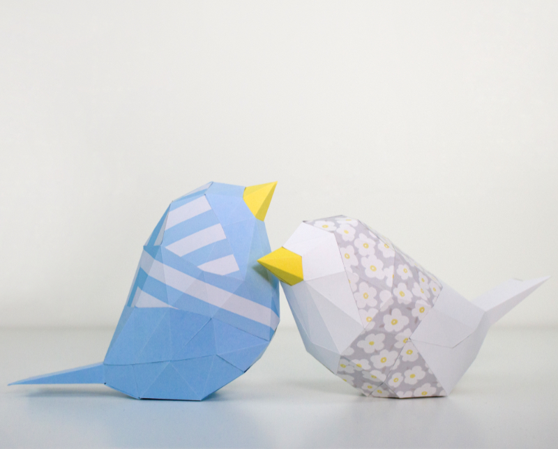 Bird Low Poly Papercraft Template  Low Poly D Papercraft Templates