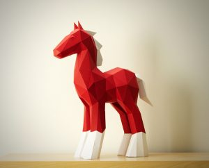 Papercraft Horse Sculpture image