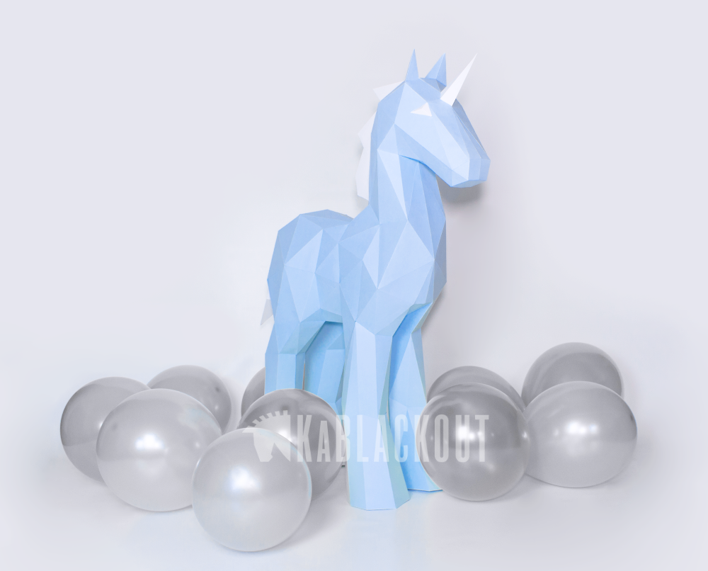 unicorn template diy papercraft image