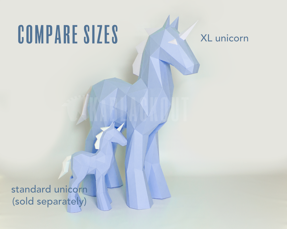 XL Unicorn Template Image