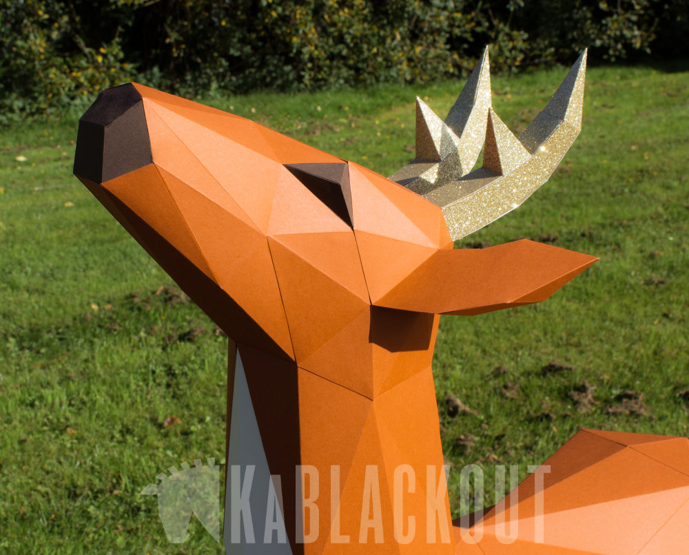XL Paper Deer Craft DIY image