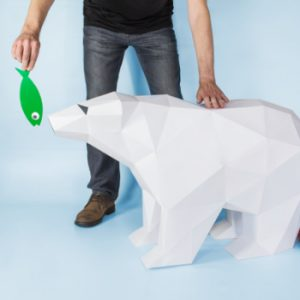 XL Polar Bear Papercraft Template