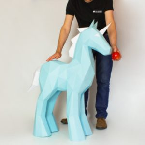 XL Unicorn Template Papercraft Image