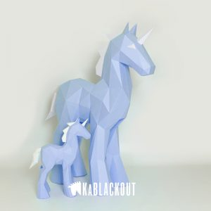 XL Low Poly Unicorn Template Image