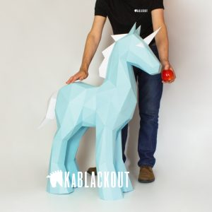 XL Unicorn papercraft template image