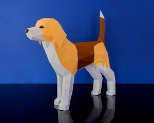 Beagle Dog Papercraft Image