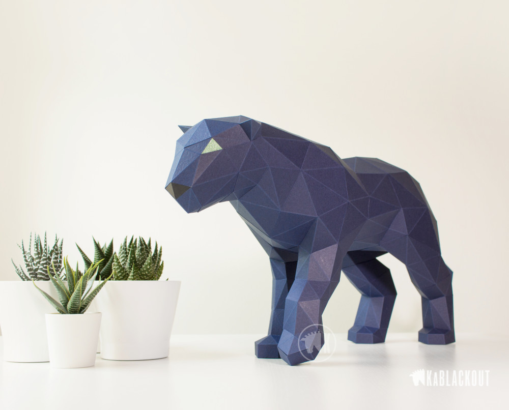 Photograph of Low Poly Panther