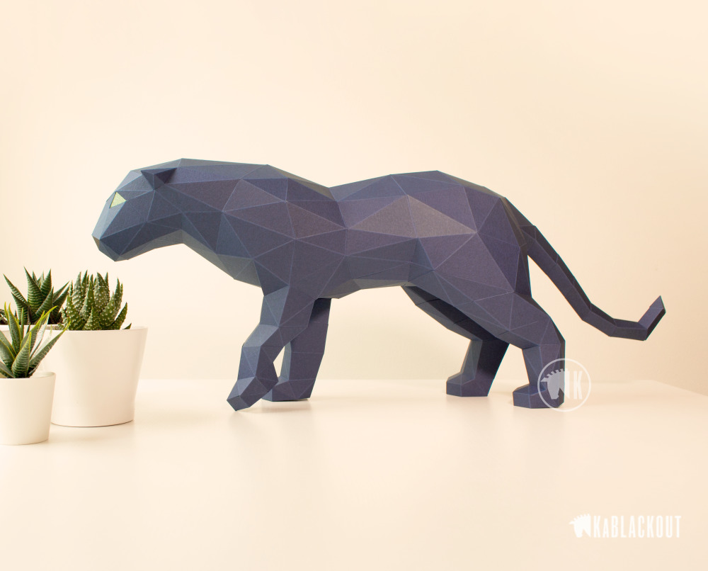 Photograph of Papercraft Panther