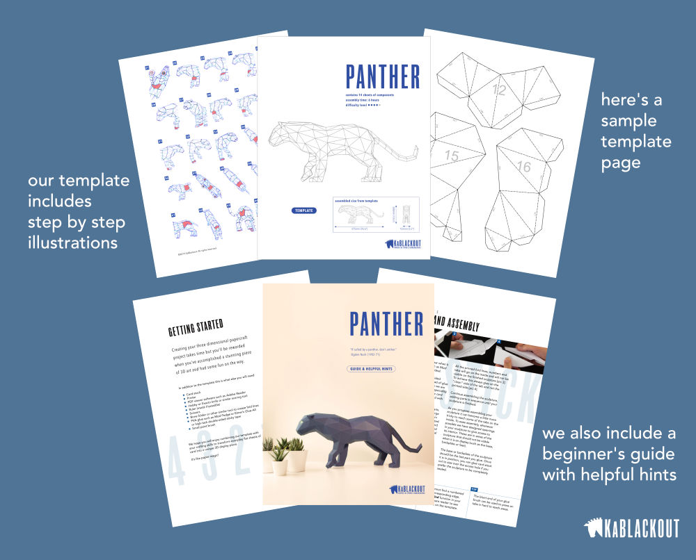 Image showing Printable Panther Template PDF Files