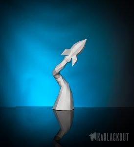 papercraft rocket image