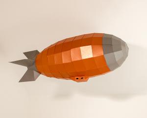 papercraft airship image