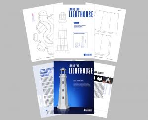 Lighthouse papercraft template image