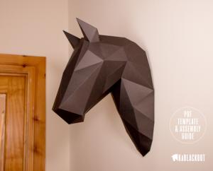 Horse Trophy Papercraft image