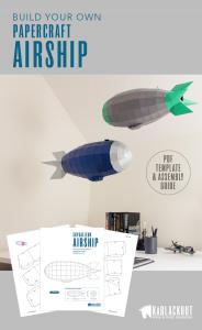 steampunk airship papercraft image