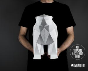 Polar Bear Low Poly Sculpture image