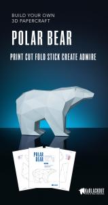 polar bear papercraft template image