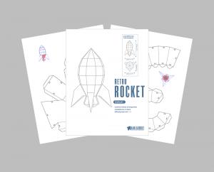 Retro Rocket PDF Template image