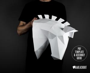 Trojan Horse Papercraft Sculpture image