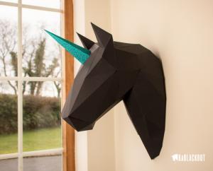 Unicorn Wall Trophy Head image