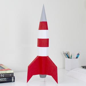 Moon Rocket Papercraft