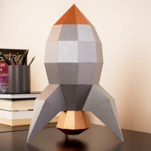 retro rocket papercraft