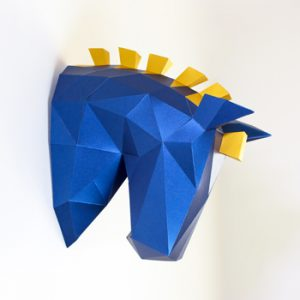 Trojan Horse Papercraft Trophy Head image