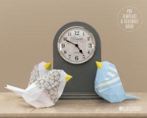 Low Polar bird papercraft image