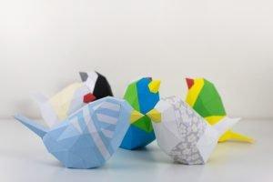 Papercraft Bird Template image
