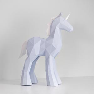 Unicorn Low poly papercraft image