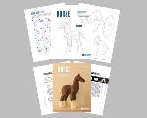 Horse PDF papercraft image
