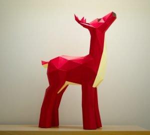 Deer_Papercraft_Template_image