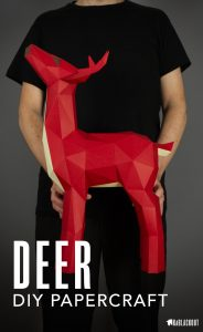Deer_Papercraft_low_Poly_template_image