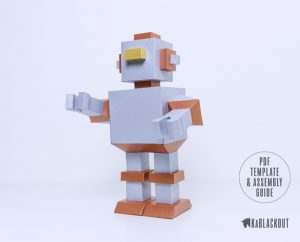 Robot Papercraft Template
