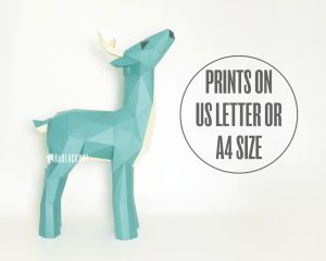 XL Papercraft Deer Template image